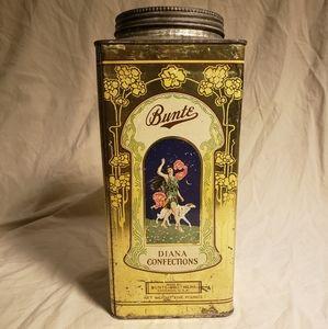 RARE! Antique Art Deco Candy Tin